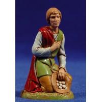 Pastor adorando con bolsa 10 cm plástico Moranduzzo - Landi estilo 700