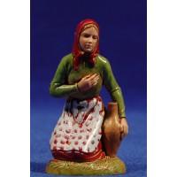 Pastora adorando con ánfora 10 cm plástico Moranduzzo - Landi estilo 700