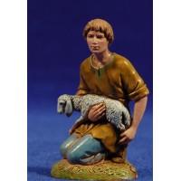 Pastor adorando con cordero 10 cm plástico Moranduzzo - Landi estilo 700