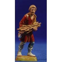 Pastor con leña a las manos 10 cm plástico Moranduzzo - Landi estilo 700