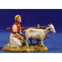 Pastora ordeñando cabra 10 cm plástico Moranduzzo - Landi
