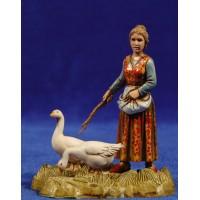 Pastora con ocas 10 cm plástico Moranduzzo - Landi estilo 700
