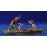 Grupo pescadores barca 10 cm plástico Moranduzzo - Landi estilo 700