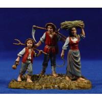 Grupo de campesinos 10 cm plástico Moranduzzo - Landi estilo ebraico