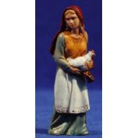 Pastora con gallina 8 cm plástico Moranduzzo - Landi estilo 700