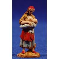 Pastora con niño en brazos 3,5 cm plástico Moranduzzo - Landi estilo 700