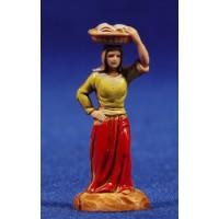 Pastora con cesto en la cabeza 3,5 cm plástico Moranduzzo - Landi estilo 700