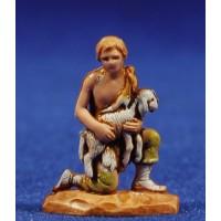 Pastor adorando con cordero 3,5 cm plástico Moranduzzo - Landi estilo 700