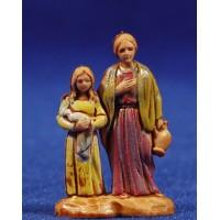 Pastora con niña 3,5 cm plástico Moranduzzo - Landi estilo 700