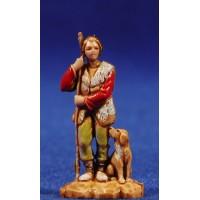 Pastor joven con bastón apoyado 3,5 cm plástico Moranduzzo - Landi estilo 700