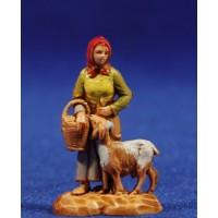 Pastora con cabra 3,5 cm plástico Moranduzzo - Landi