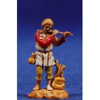 Flautista músico de pie 3,5 cm plástico Moranduzzo - Landi estilo 700