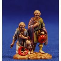 Pastores adorando 3,5 cm plástico Moranduzzo - Landi estilo 700
