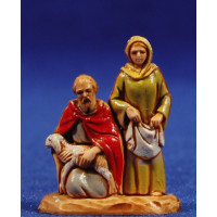 Pastor y pastora adorando 3,5 cm plástico Moranduzzo - Landi estilo 700