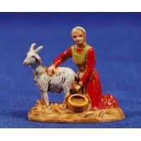 Pastora ordeñando cabra 3,5 cm plástico Moranduzzo - Landi