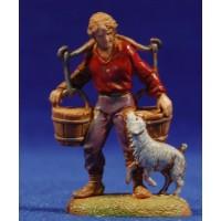 Pastor con cubos de agua y perro 6 cm plástico Moranduzzo - Landi estilo 700