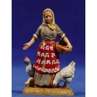 Pastora con gallinas 6 cm plástico Moranduzzo - Landi estilo 700