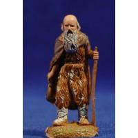Pastor viejo con bastón 6 cm plástico Moranduzzo - Landi estilo 700