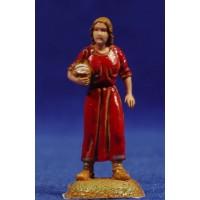Pastora con cesto al brazo 6 cm plástico Moranduzzo - Landi estilo 700