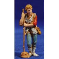 Pastor con bastón apoyado 8 cm plástico Moranduzzo - Landi estilo 700