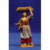 Pastora con leña 8 cm plástico Moranduzzo - Landi estilo 700