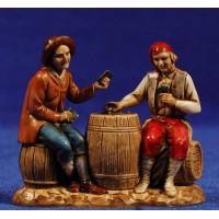 Pastores  jugando a cartas 8 cm plástico Moranduzzo - Landi estilo 700