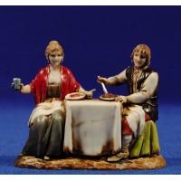 Pastores en la mesa 8 cm plástico Moranduzzo - Landi estilo 700