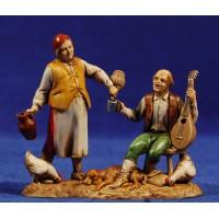 Pastores bebiendo 8 cm plástico Moranduzzo - Landi estilo 700