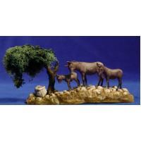 Grupo asnos y arbol 8 cm plástico Moranduzzo - Landi