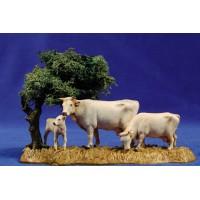 Grupo vacas y arbol 8 cm plástico Moranduzzo - Landi