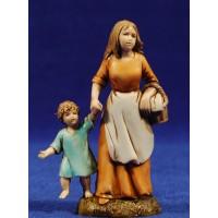 Pastora con niño 10 cm plástico Moranduzzo estilo 700