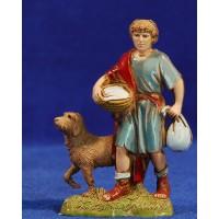 Pastor con perro 10 cm plástico Moranduzzo - Landi estilo 700