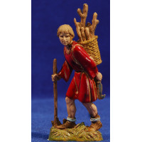 Pastor con leña 10 cm plástico Moranduzzo - Landi estilo 700