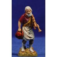 Gaitero músico viejo 10 cm plástico Moranduzzo - Landi estilo 700