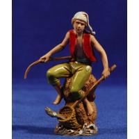 Pescador sentado 10 cm plástico Moranduzzo - Landi estilo 700