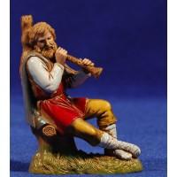 Flautista músico sentado 10 cm plástico Moranduzzo - Landi estilo 700