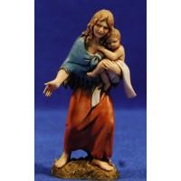 Pastora con niñao en brazos 10 cm plástico Moranduzzo estilo 700