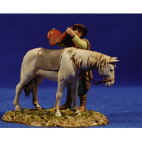Pastor con caballo 10 cm plástico Moranduzzo estilo 700
