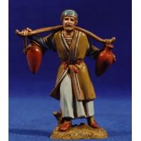 Pastor con cubos de agua 10 cm plástico Moranduzzo - Landi estilo ebraico