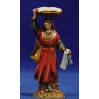 Pastora con cesto 10 cm plástico Moranduzzo - Landi estilo ebraico