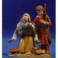 Pastor adorando con niño 10 cm plástico Moranduzzo - Landi estilo ebraico