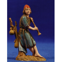 Flautista músico de pie 10 cm plástico Moranduzzo - Landi estilo ebraico
