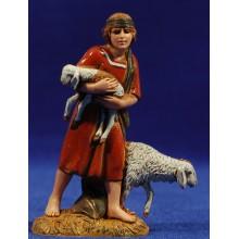 Pastor con corderos 10 cm plástico Moranduzzo - Landi estilo ebraico