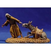 Pastor estirando mula 10 cm plástico Moranduzzo - Landi estilo ebraico
