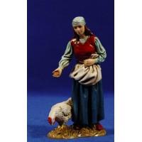Pastora con gallinas 12-13  cm plástico Moranduzzo - Landi estilo 700