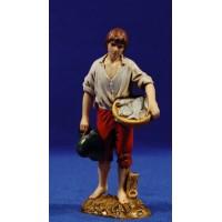 Pescador de pie con sombrero 12-13  cm plástico Moranduzzo - Landi estilo 700