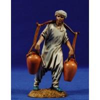 Pastor con cubos de agua 12-13  cm plástico Moranduzzo - Landi estilo ebraico