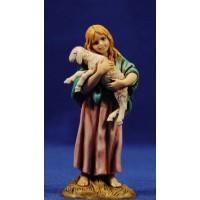 Niña con cordero 12-13  cm plástico Moranduzzo - Landi estilo 700