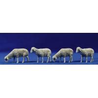 Grupo cuatro corderos 12 cm plástico Moranduzzo - Landi