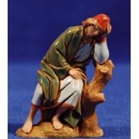 Pastor durmiendo 6,5 cm plástico Moranduzzo - Landi estilo ebraico